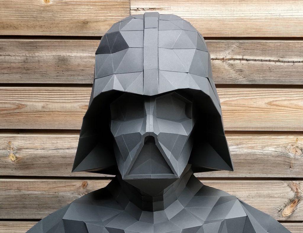 Studio66Designs+Papercraft+Darth+Vader+Statue