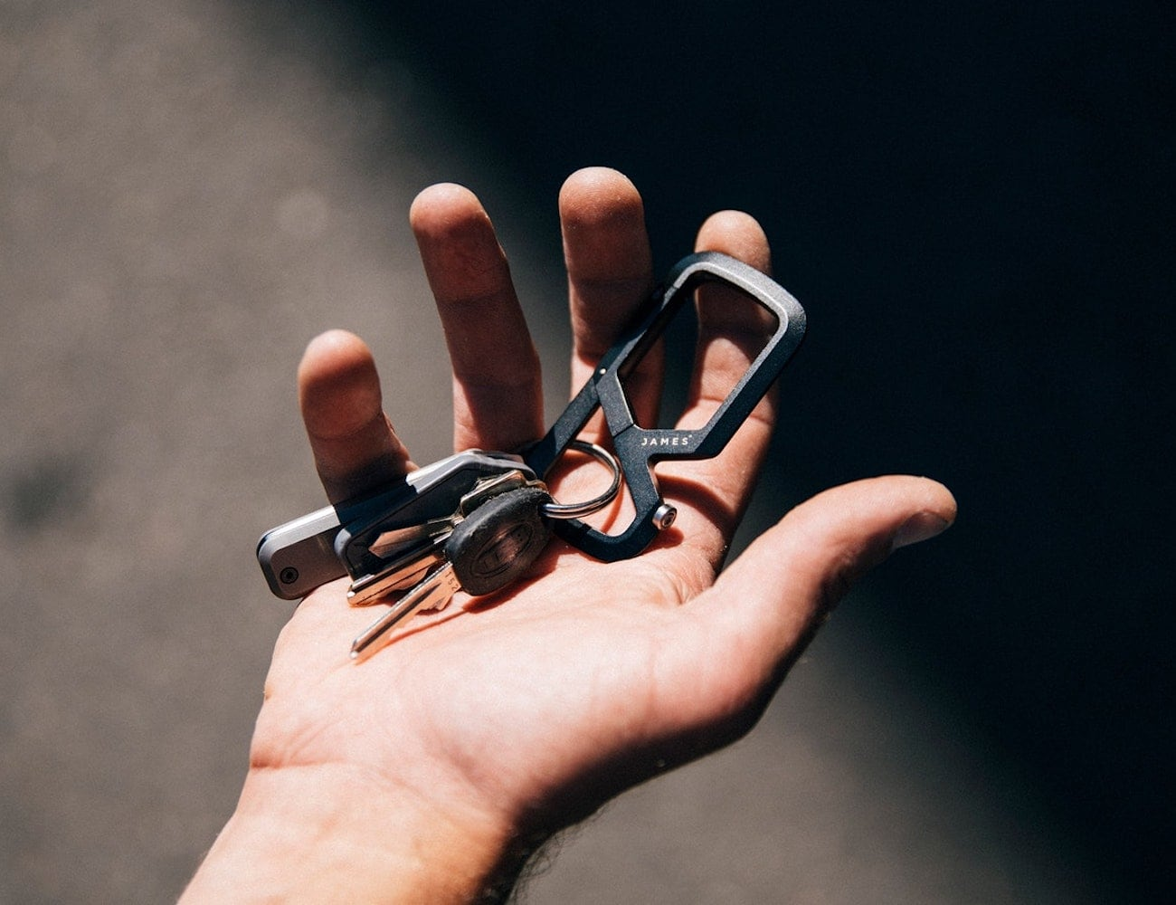 The James Brand Mehlville Dual Compartment Carabiner