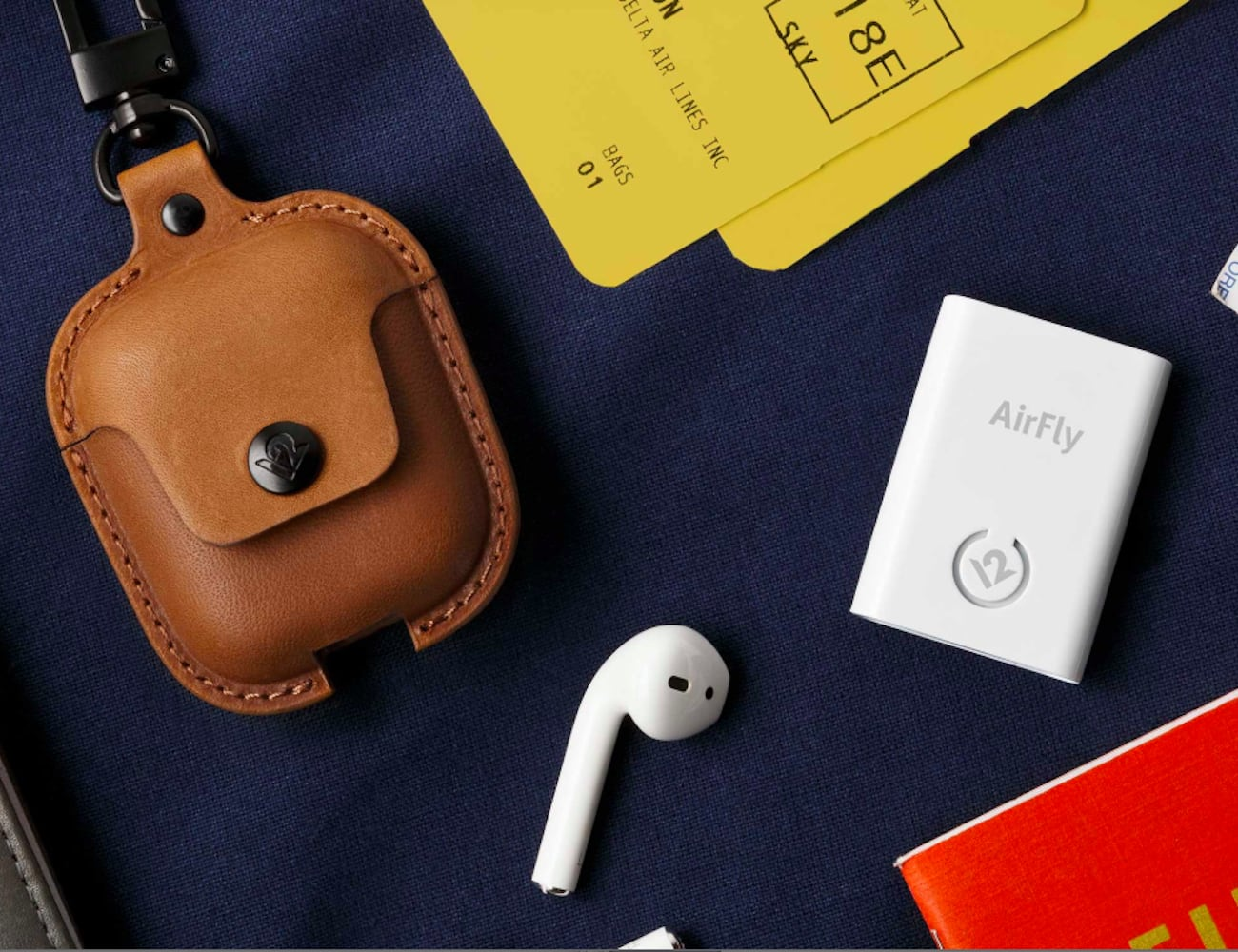 Twelve South AirSnap Leather AirPods Case