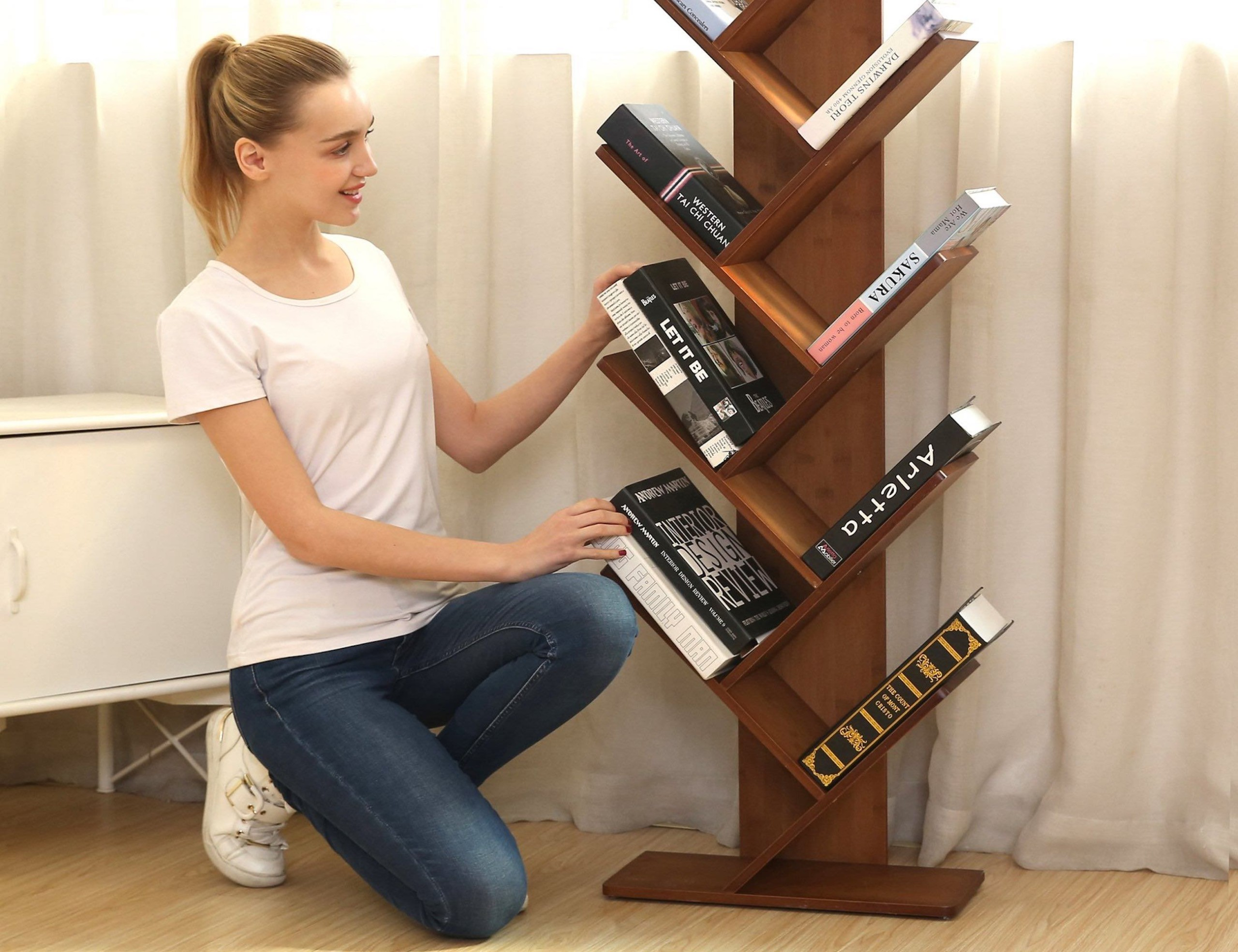UNICOO Bamboo Tree Bookcase