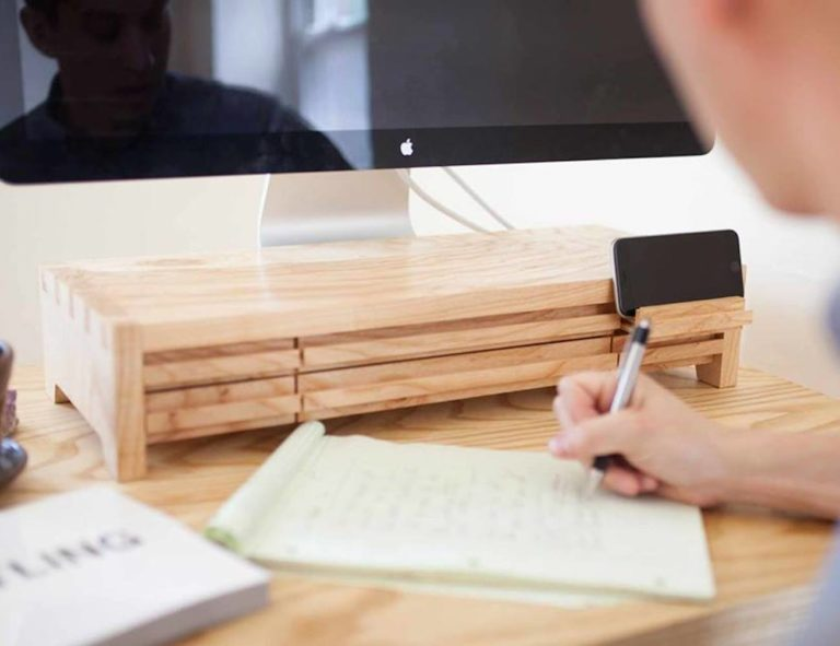 Understands+Sustainable+Urban+Wood+Computer+Monitor+Stands