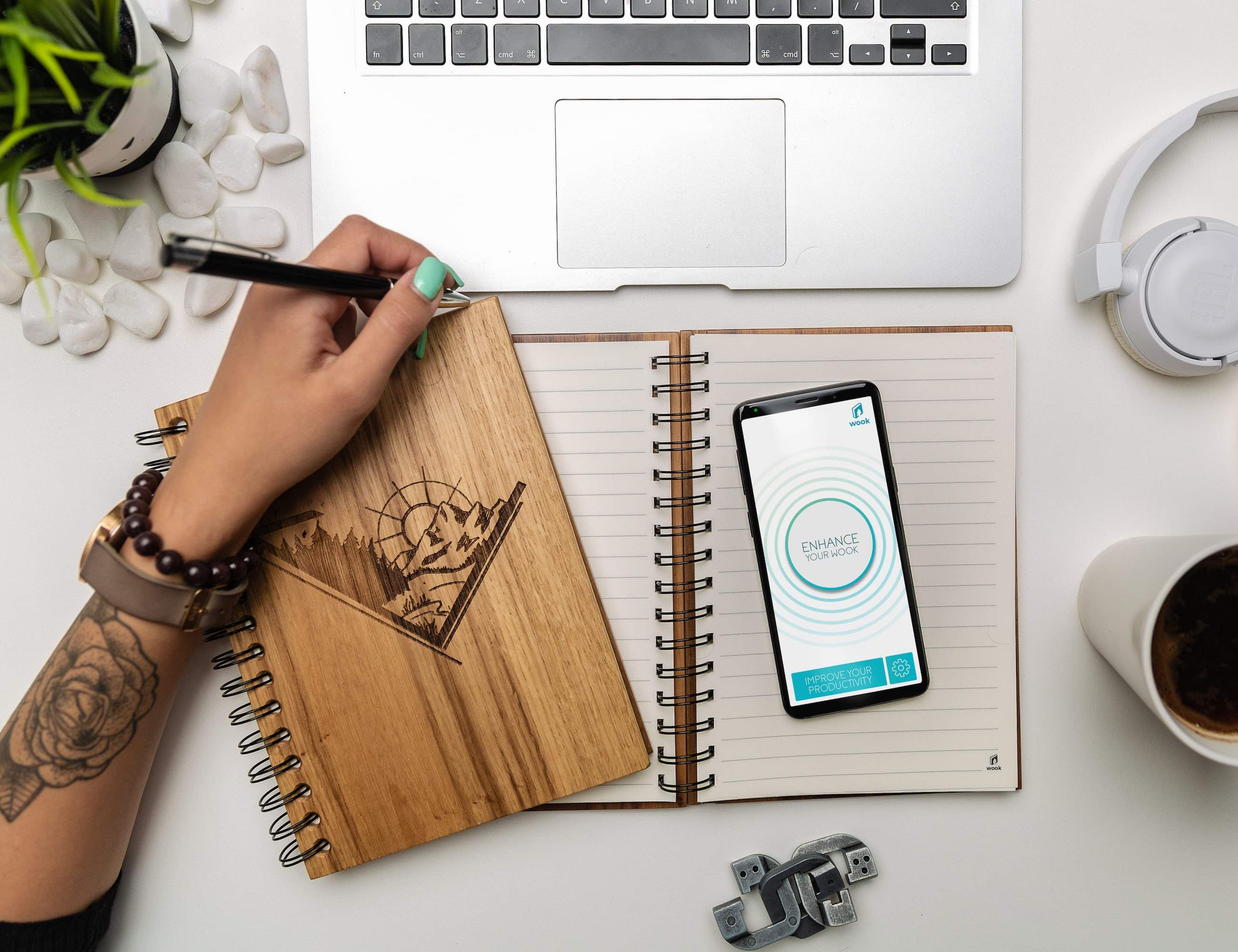 WOOK notes Smart Wooden Notebook