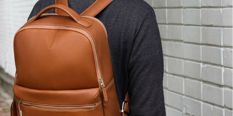 Durable Leather Backpack