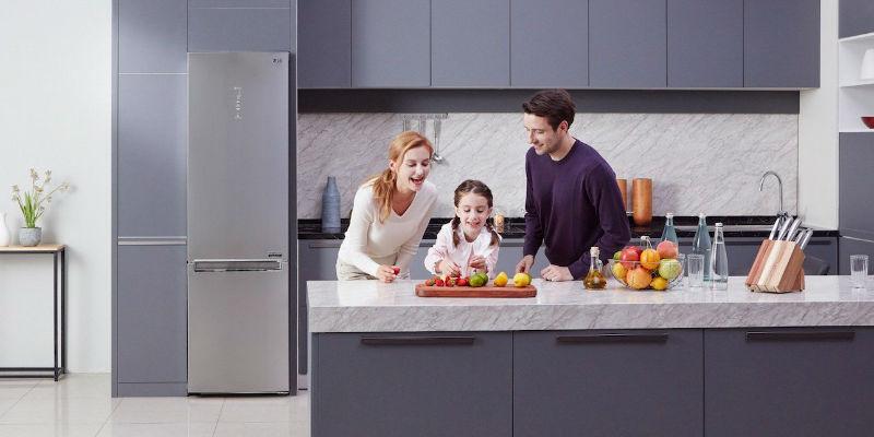 LG Centum System Energy Efficient Bottom-Freezer Refrigerator