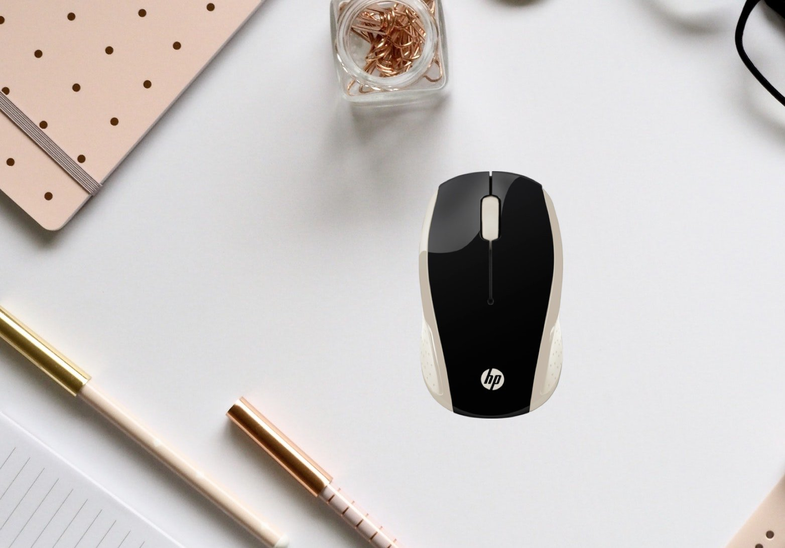 The new HP 200 wireless mouse helps you work your way