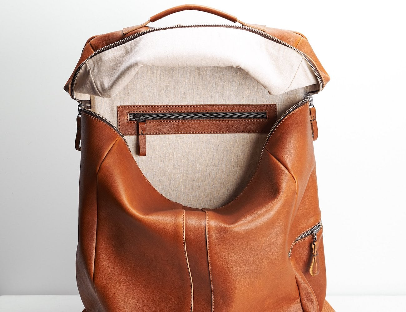 Capra Leather Banteng Leather Laptop Backpack