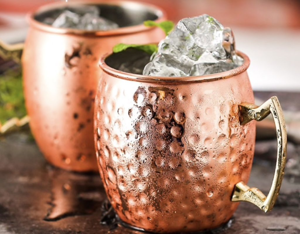 Copper+Plated+Moscow+Mule+Mug+Set