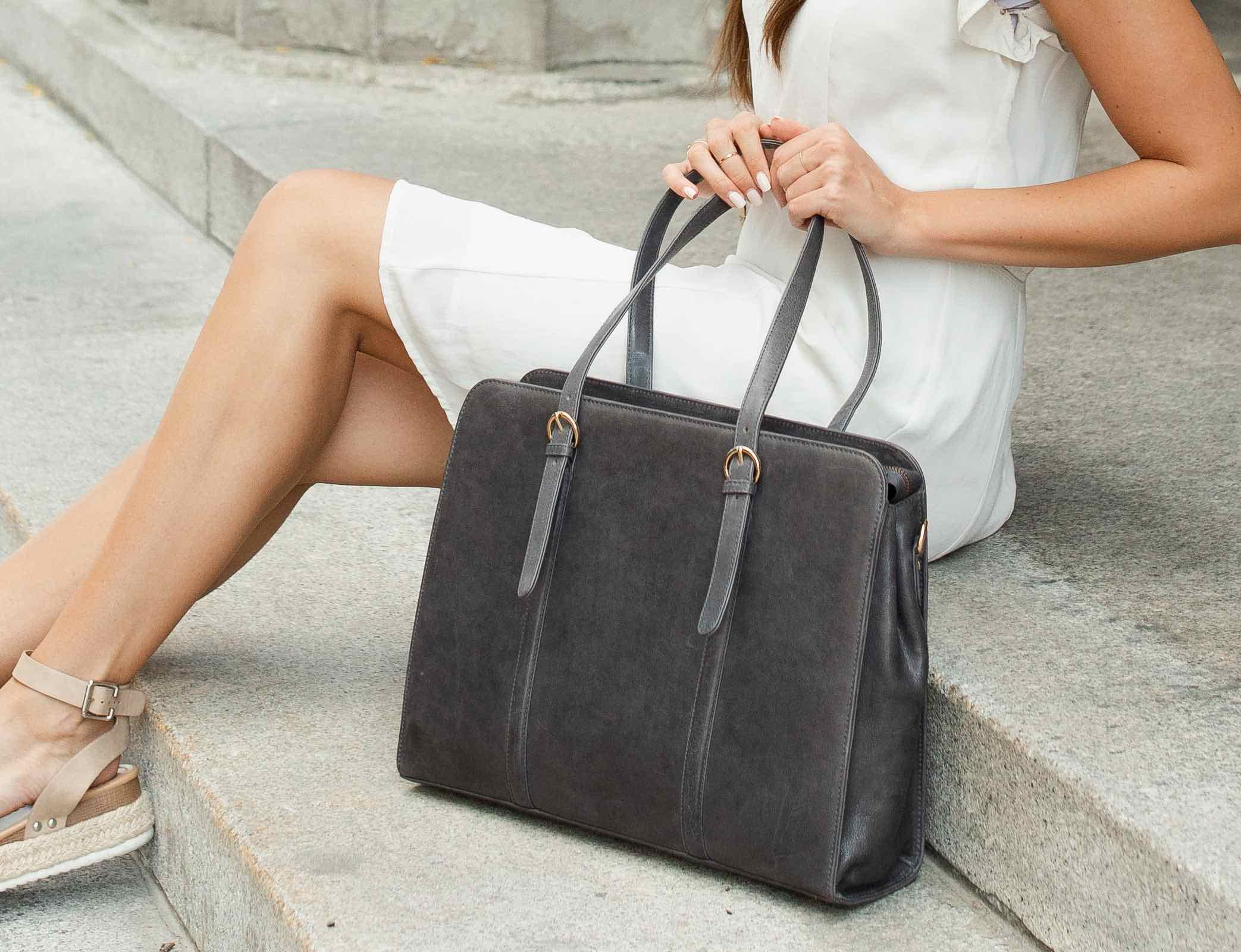 ERA81 Ultimate Leather Laptop Bag