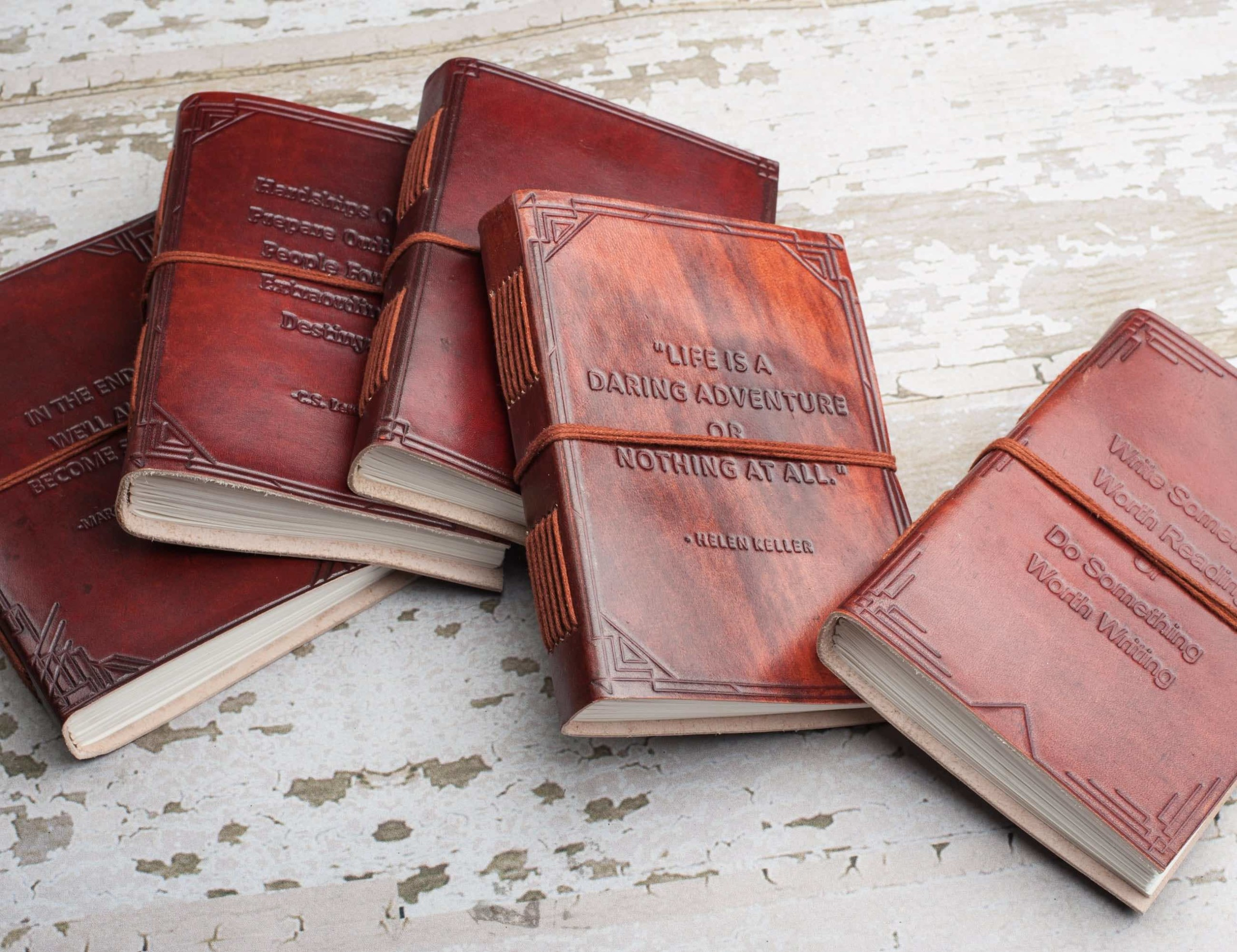 Embossed Handmade Leather Journals
