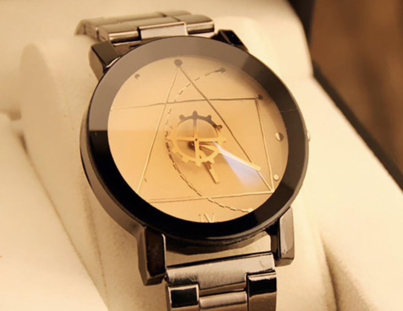 Luxury Stainless Steel Unisex Wristwatch