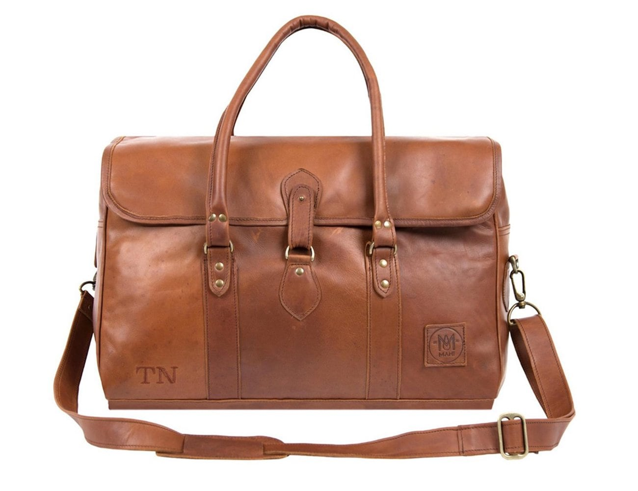 Mahi Leather Drake Large Brown Leather Holdall