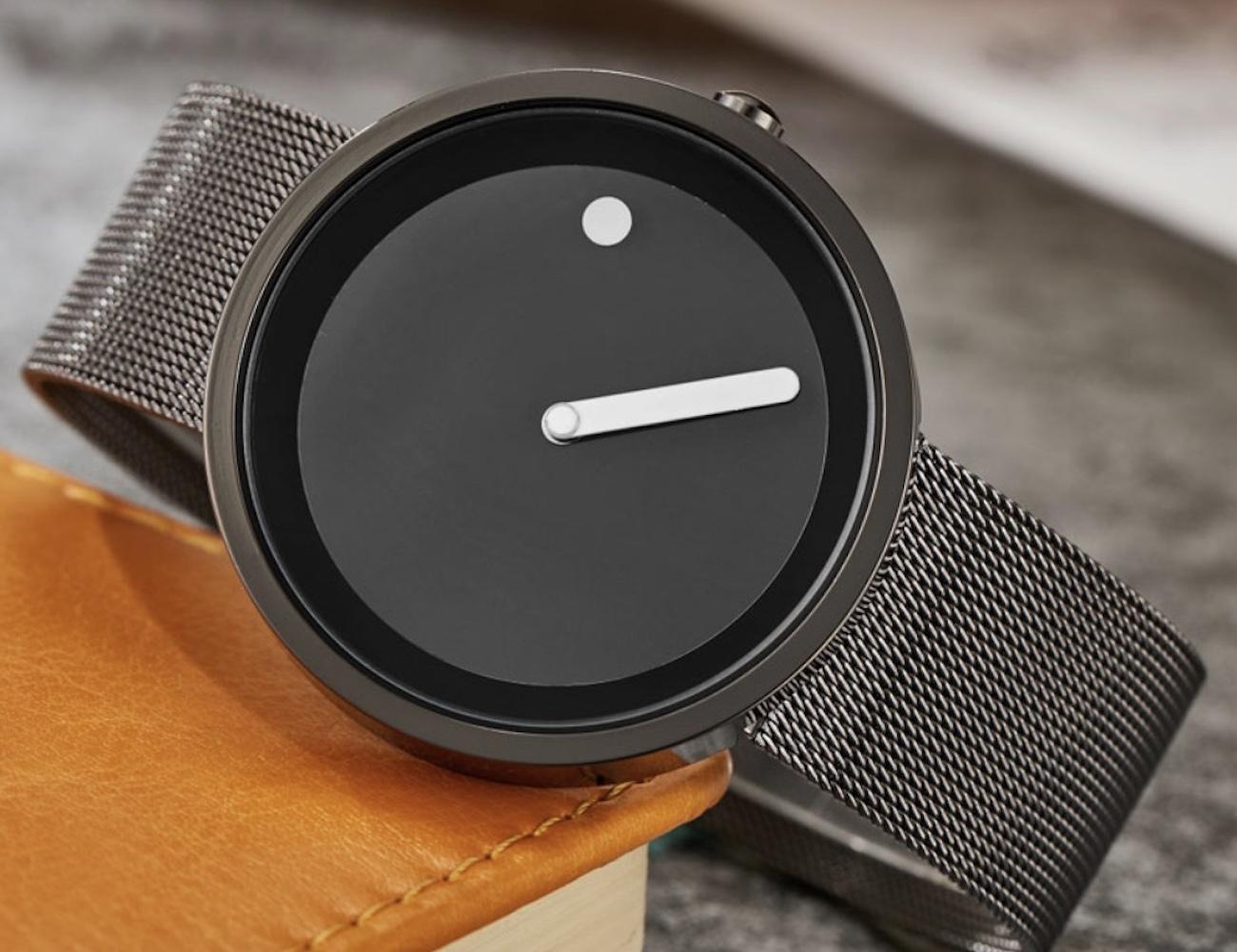 Minimalist Dot and Line Stylish Wristwatch