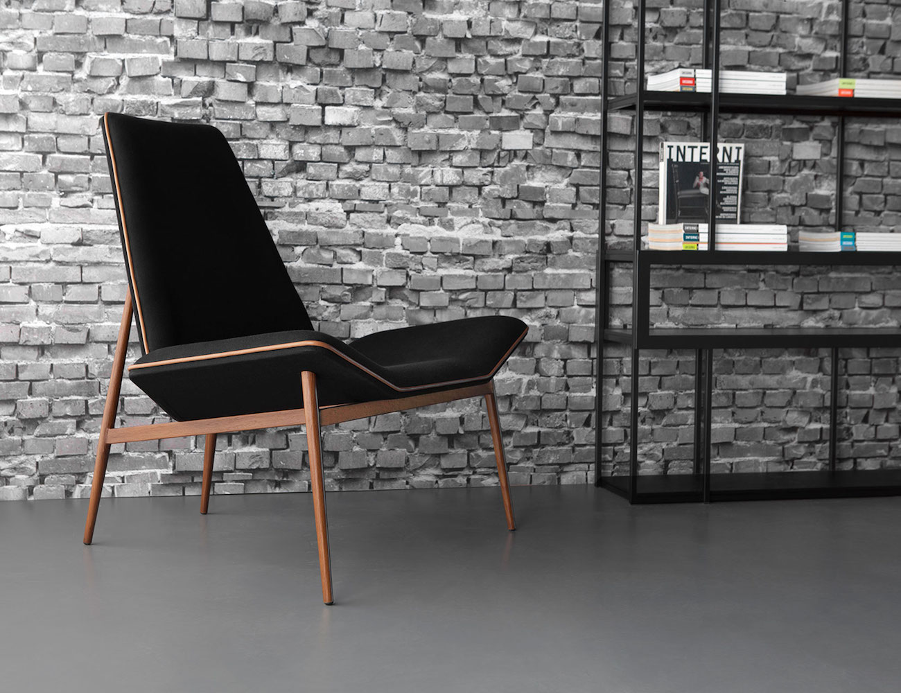 Modloft Kent Lounge Chair combines minimalism and modernism