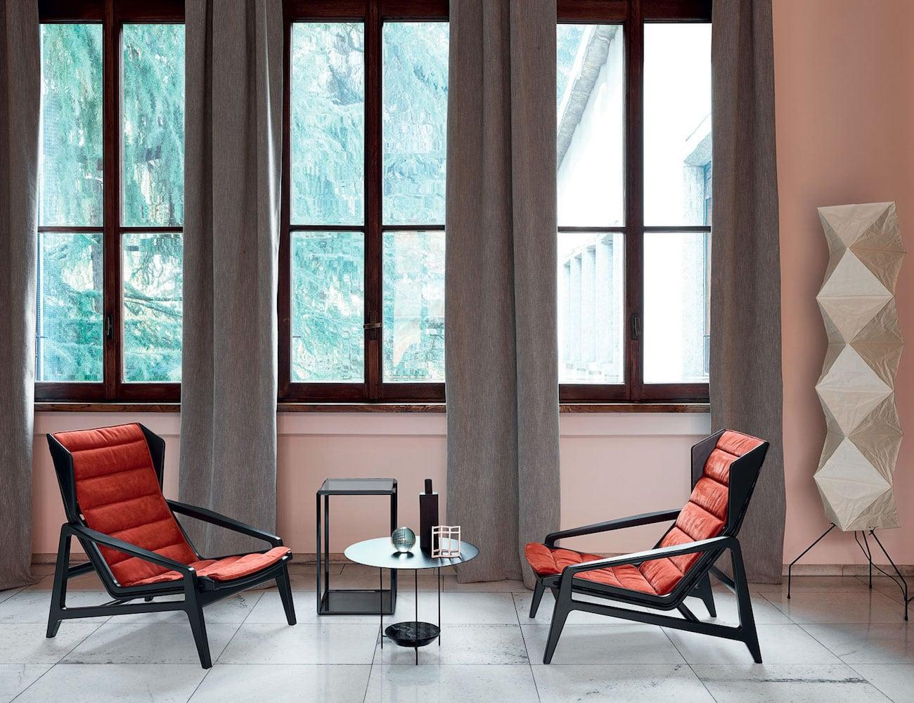 Molteni&C D. 156.3 Designer Wooden Armchair