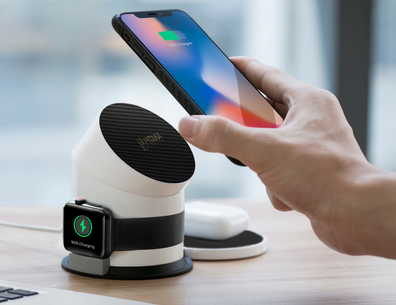 PITAKA MagDock All-in-One Magnetic Wireless Charging Dock loading=