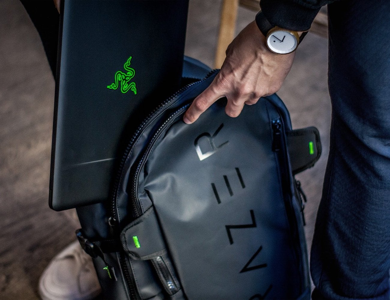 Razer Rogue Gaming Laptop Backpack is designed to minimize fatigue