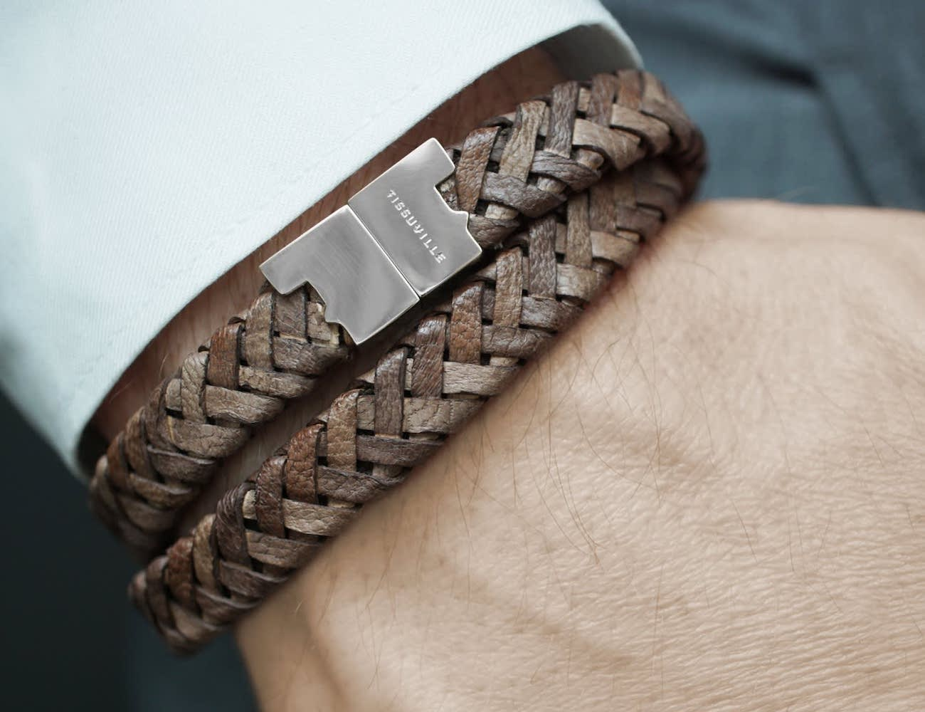 Tissuville Stark Leather Braided Bracelet