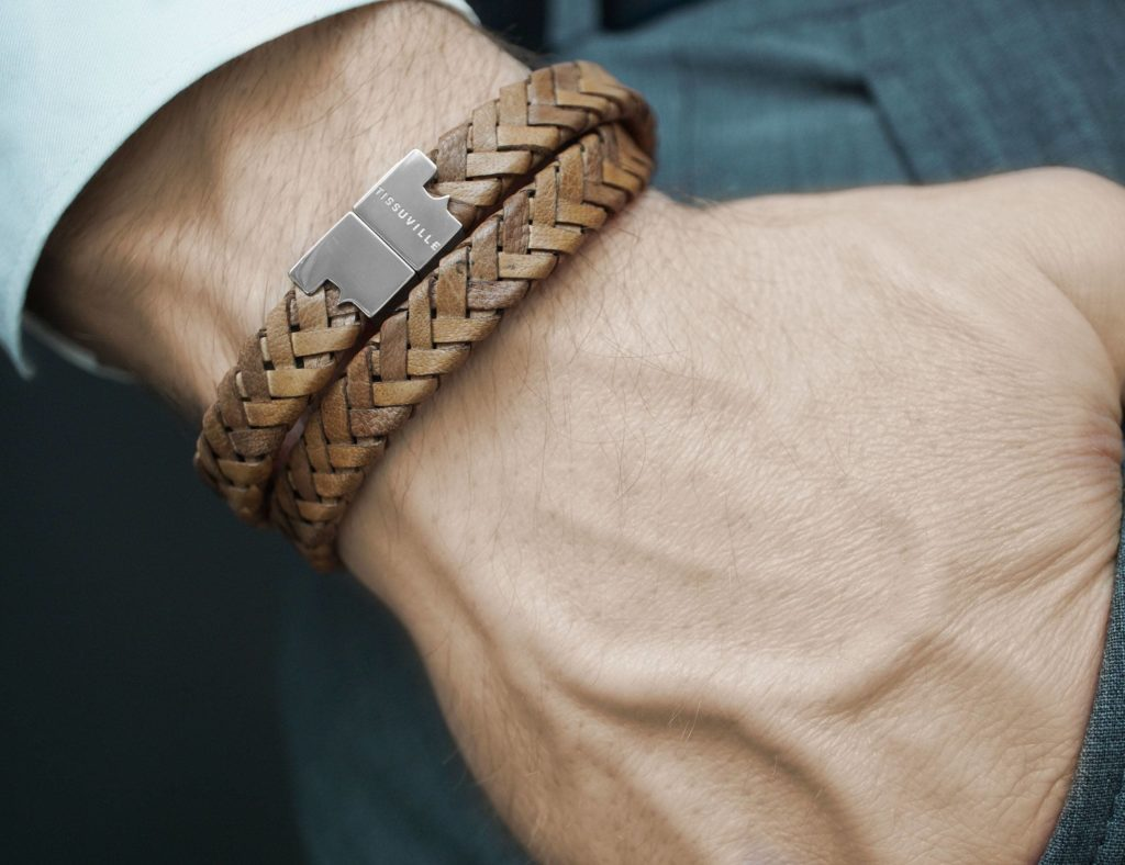 Tissuville+Stark+Vintage+Braid+Leather+Bracelet