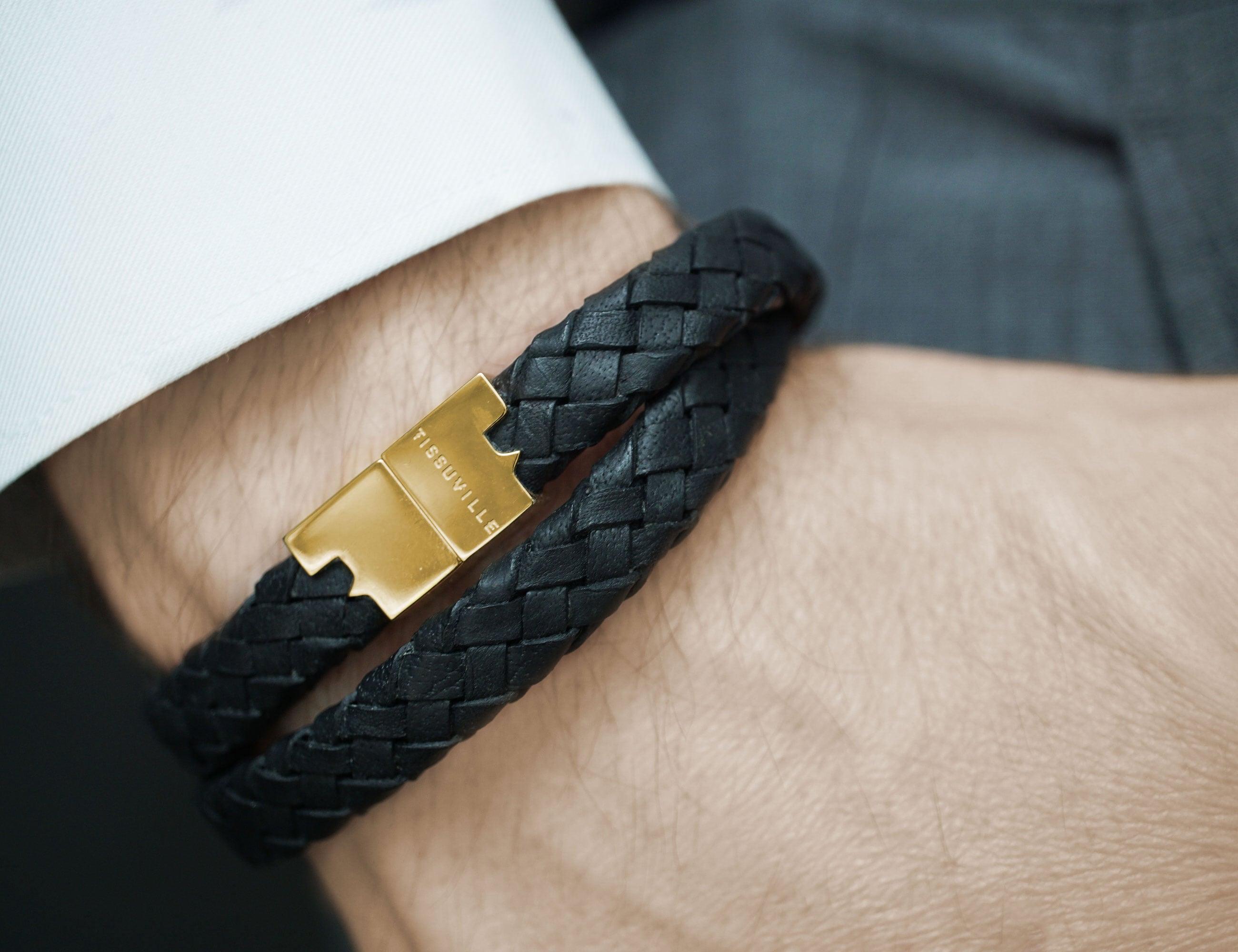 Tissuville Stark Vintage Braid Leather Bracelet