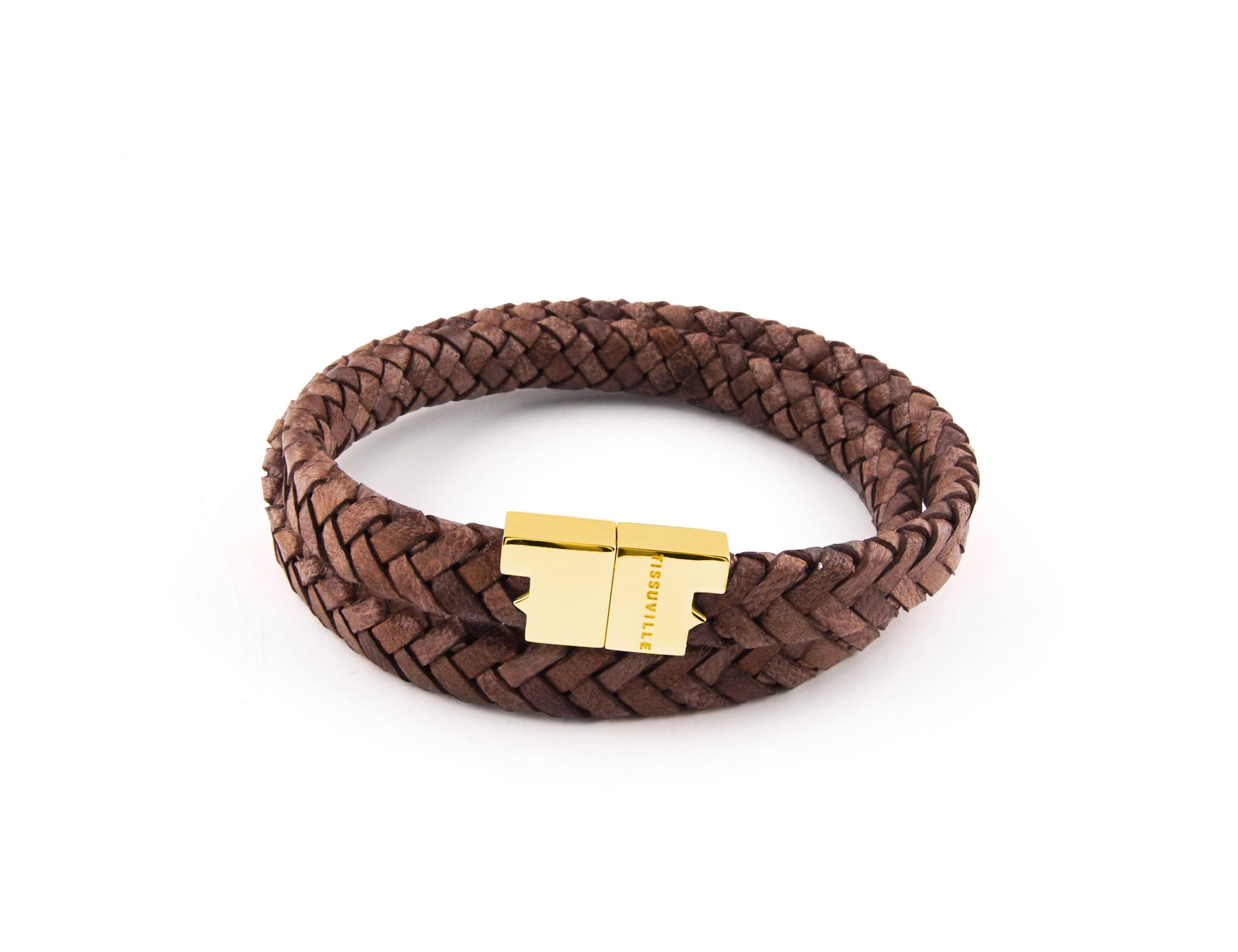 Tissuville Stark Vintage Braid Leather Bracelet