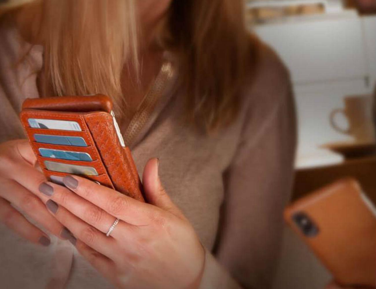 Vaja iPhone Xs Leather Wallet Case