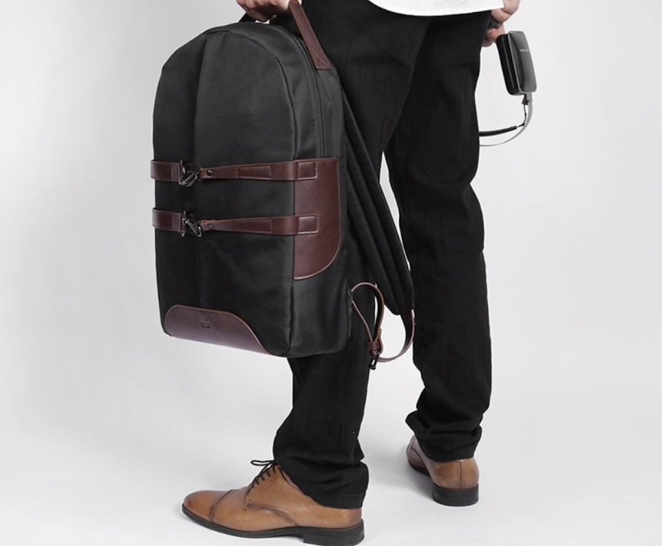 Waterproof Canvas Laptop Backpack