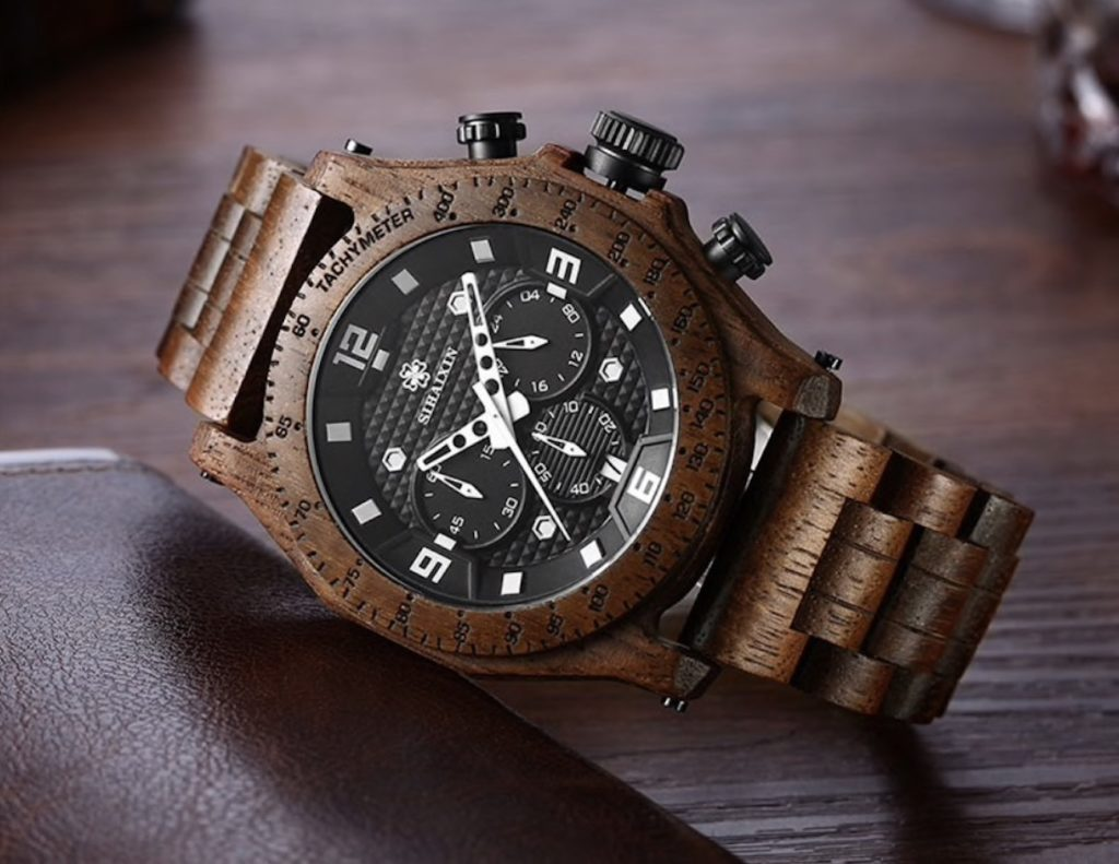 Waterproof+Men%26%238217%3Bs+Wooden+Watch