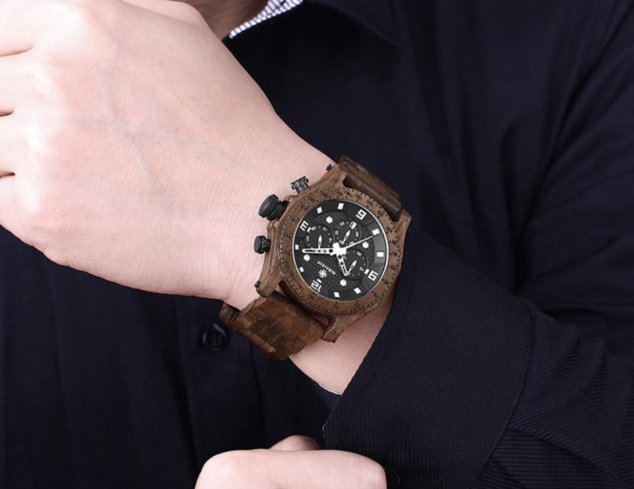 Waterproof Men's Wooden Watch
