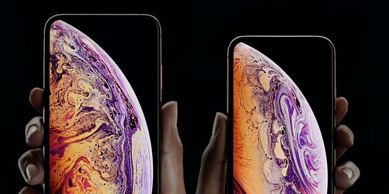 Edge-to-edge display on the new iPhone Xs series