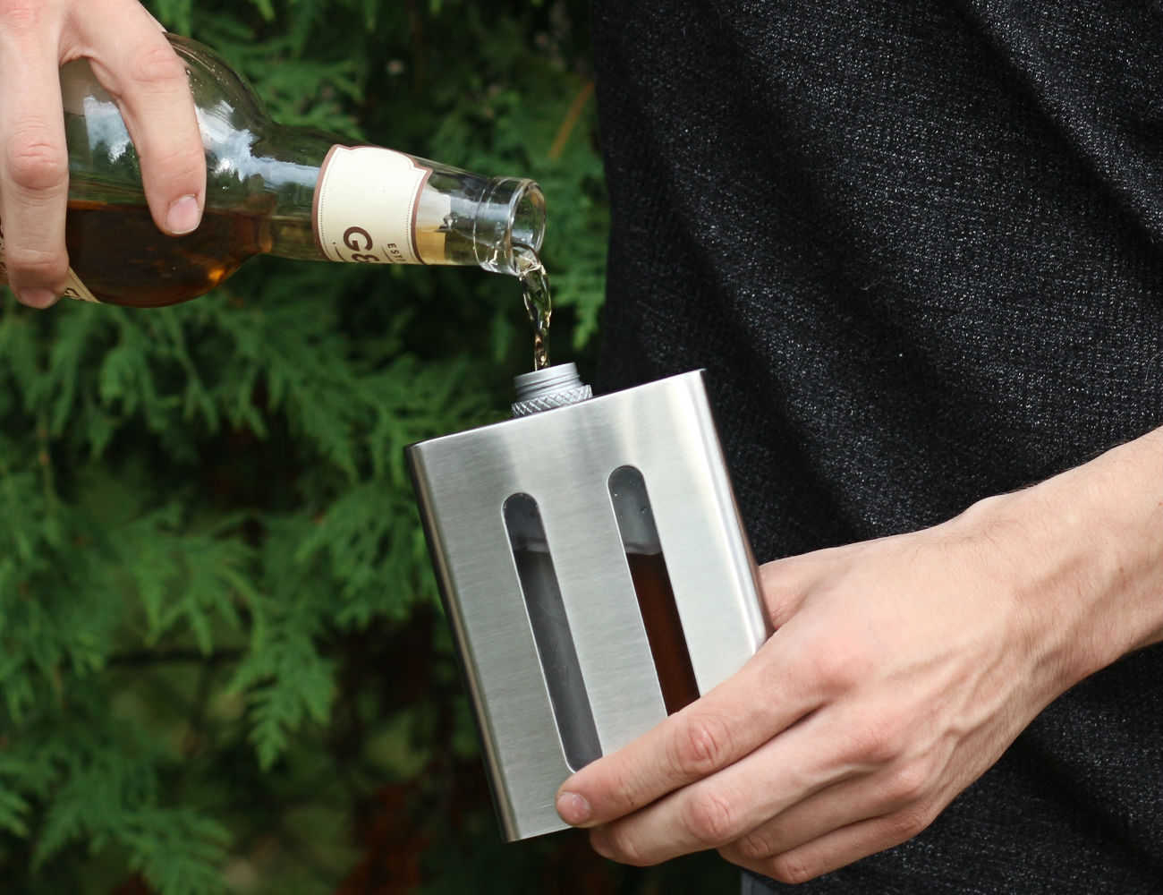 Dividere Dual Chambered Hip Flask