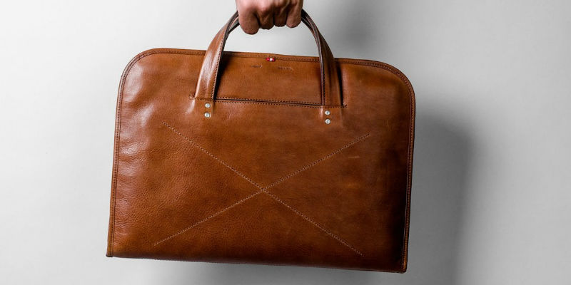 Wool and Leather Home Briefcase