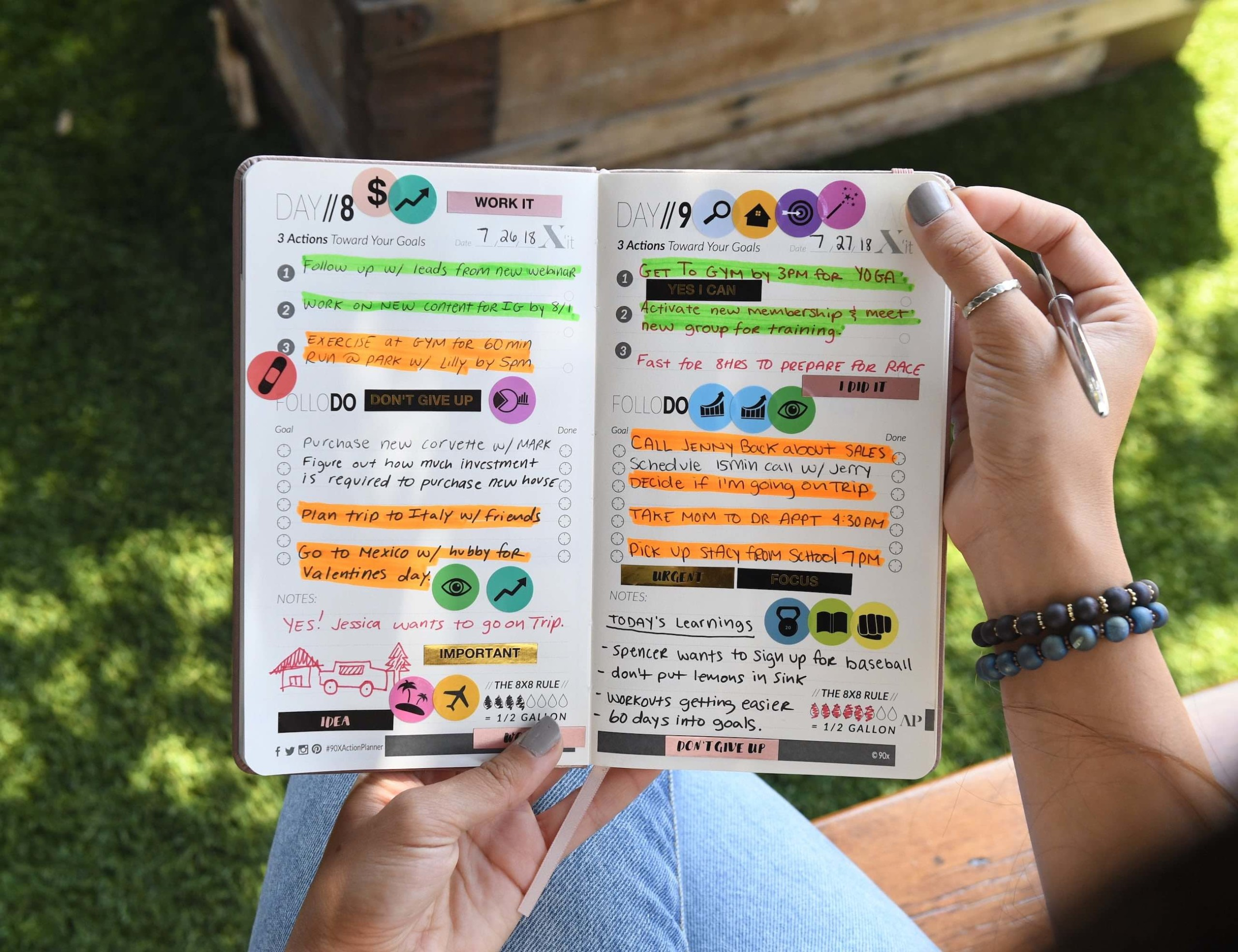 90X Action Planner Notebook