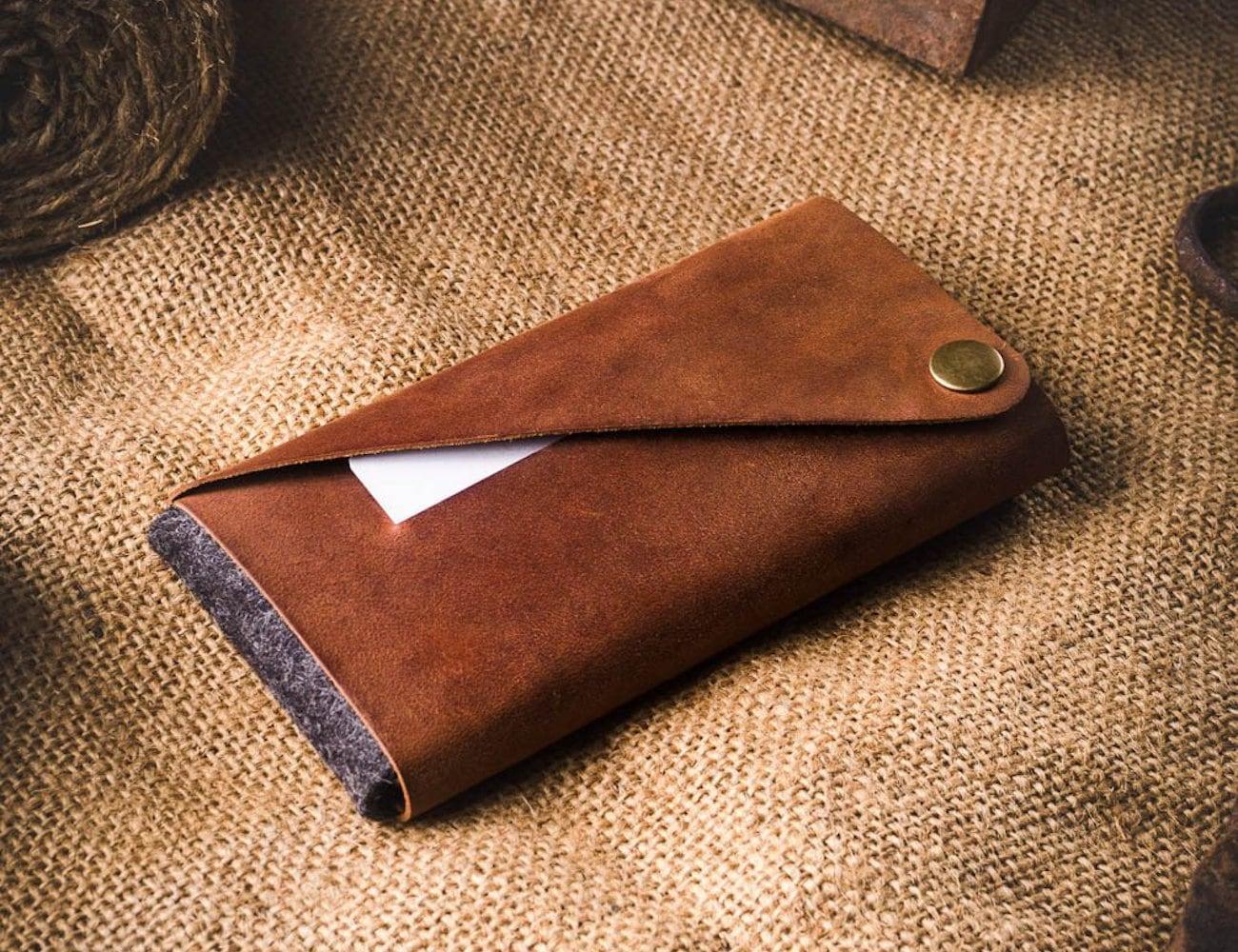 CrazyHorseCraft Foldable Leather iPhone Wallet