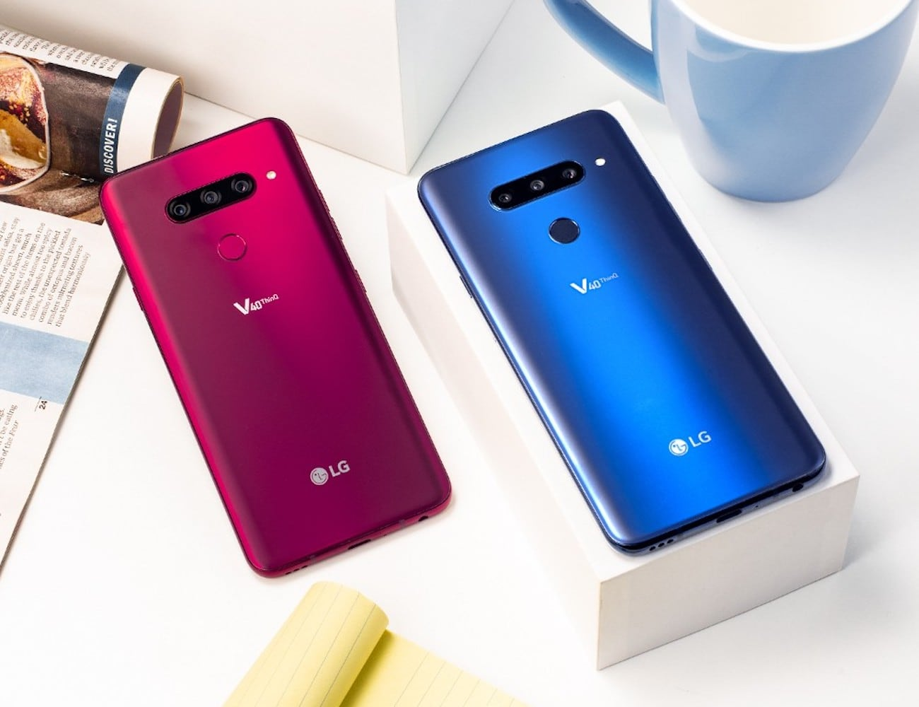LG V40 ThinQ 5-Camera Smartphone