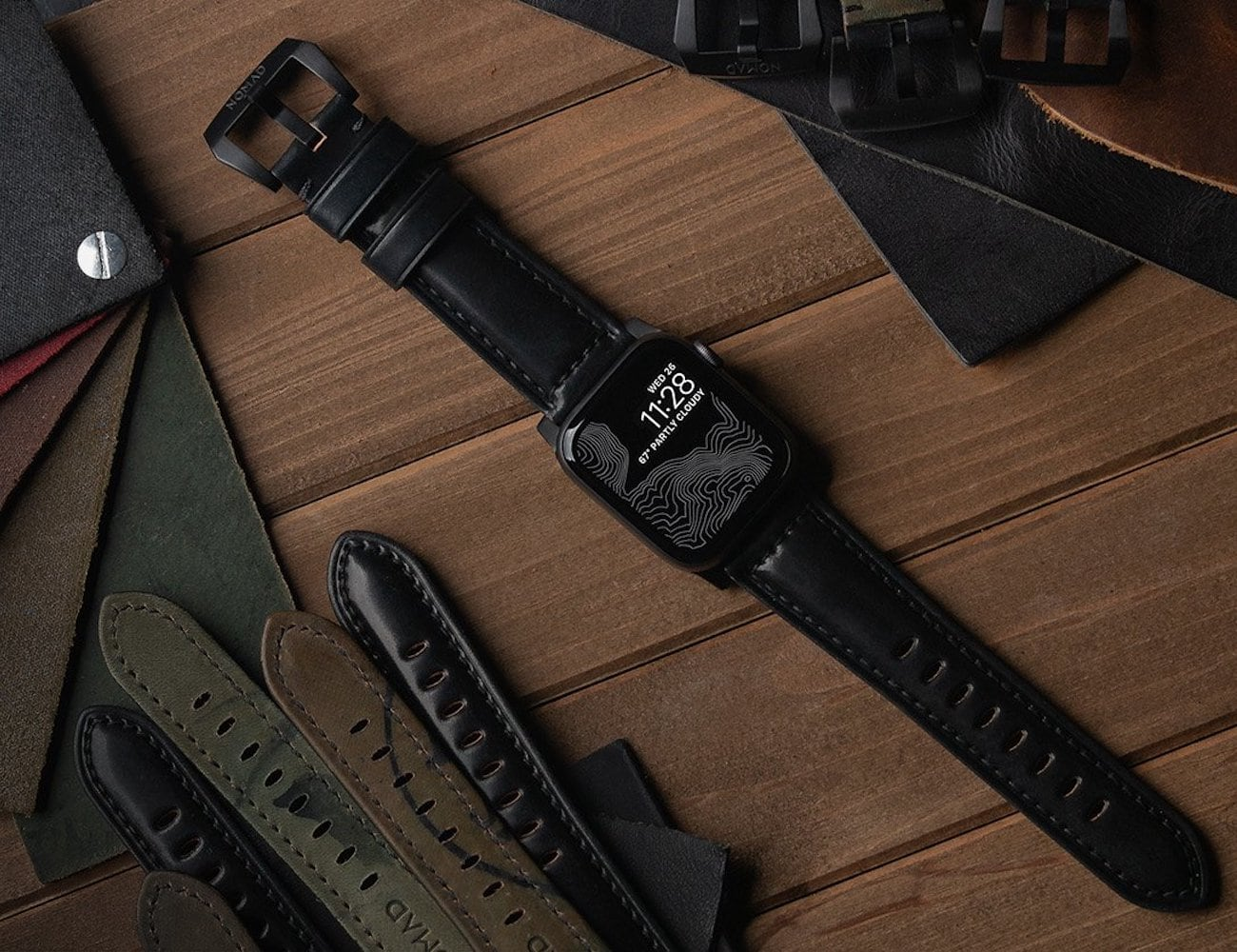 Nomad Shell Cordovan Apple Watch Strap