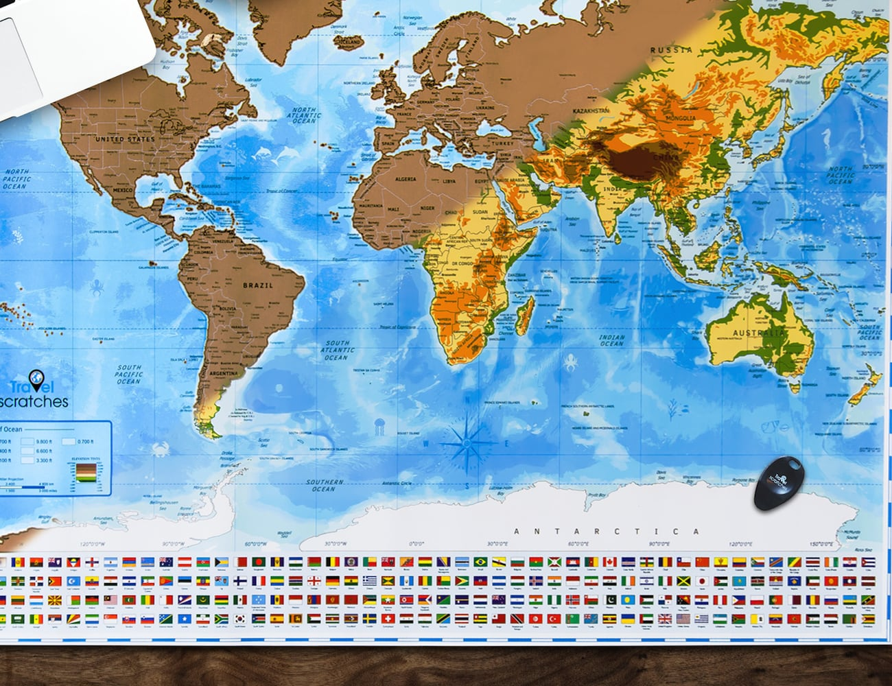 Travelscratches Travel Tracker Scratch Off World Map