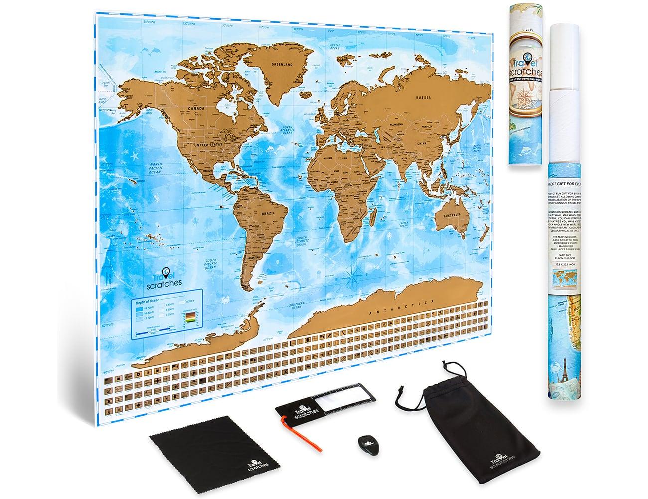 Travelscratches Travel Tracker Scratch Off World Map Gadget Flow
