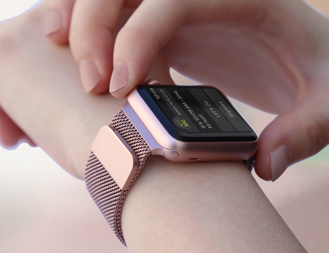 Unti Apple Watch Steel Mesh Band