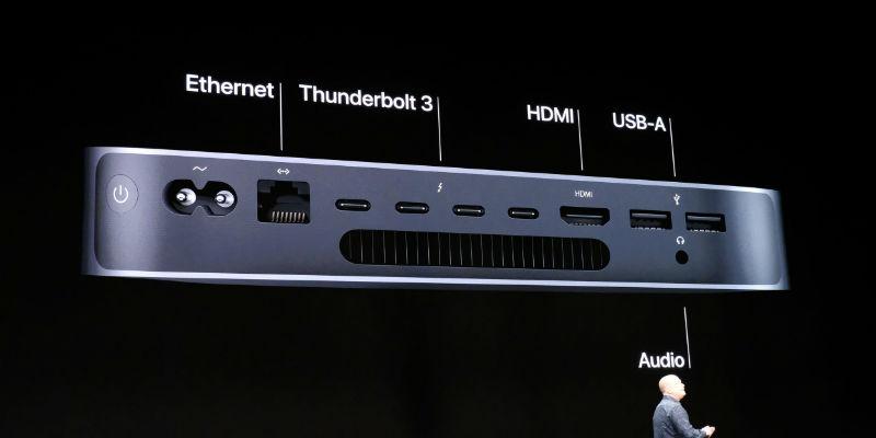 Apple Mac mini Port Breakdown / The Verge