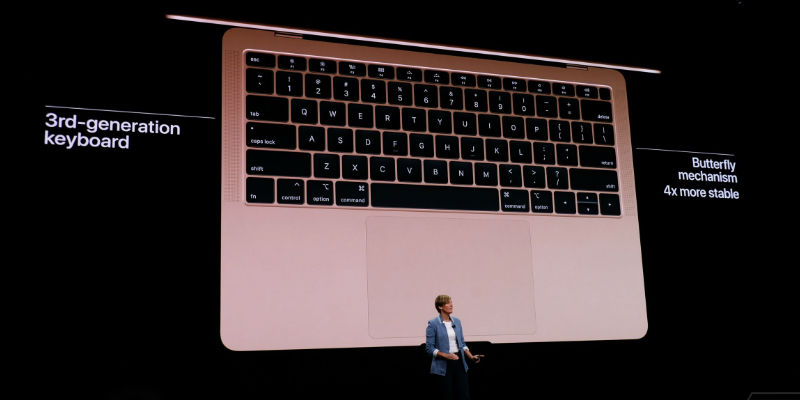 "New MacBook Air 13.3"" with 3rd-gen Butterfly keyboard / Credits: The Verge"