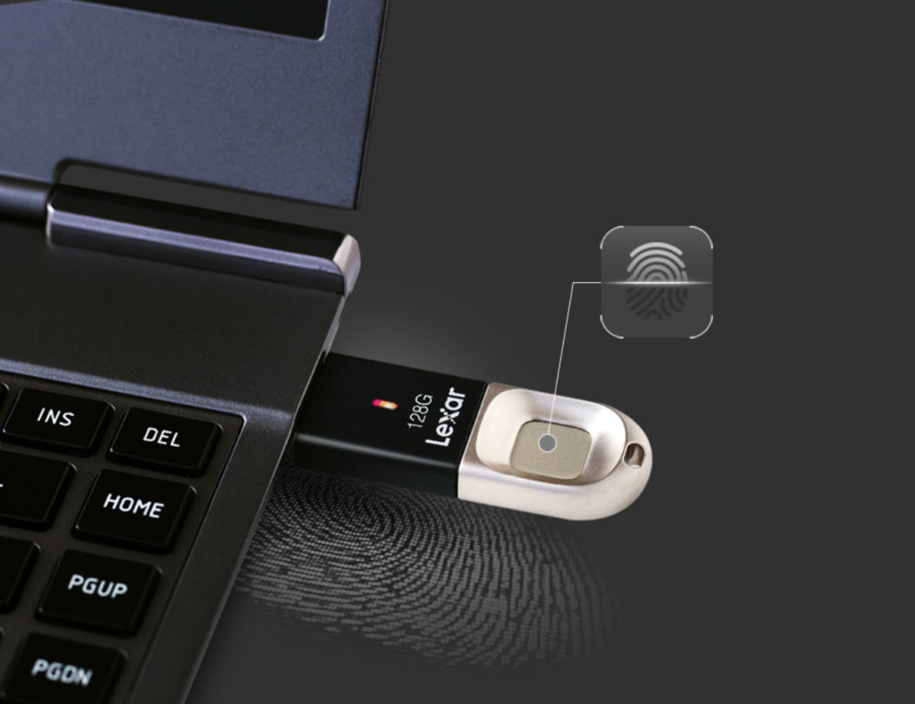 Lexar+JumpDrive+35+Fingerprint+Flash+Drive