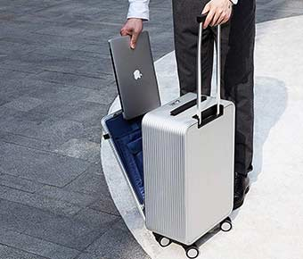 Aluminum+Hard+Case+Luggage+for+Modern+Travelers