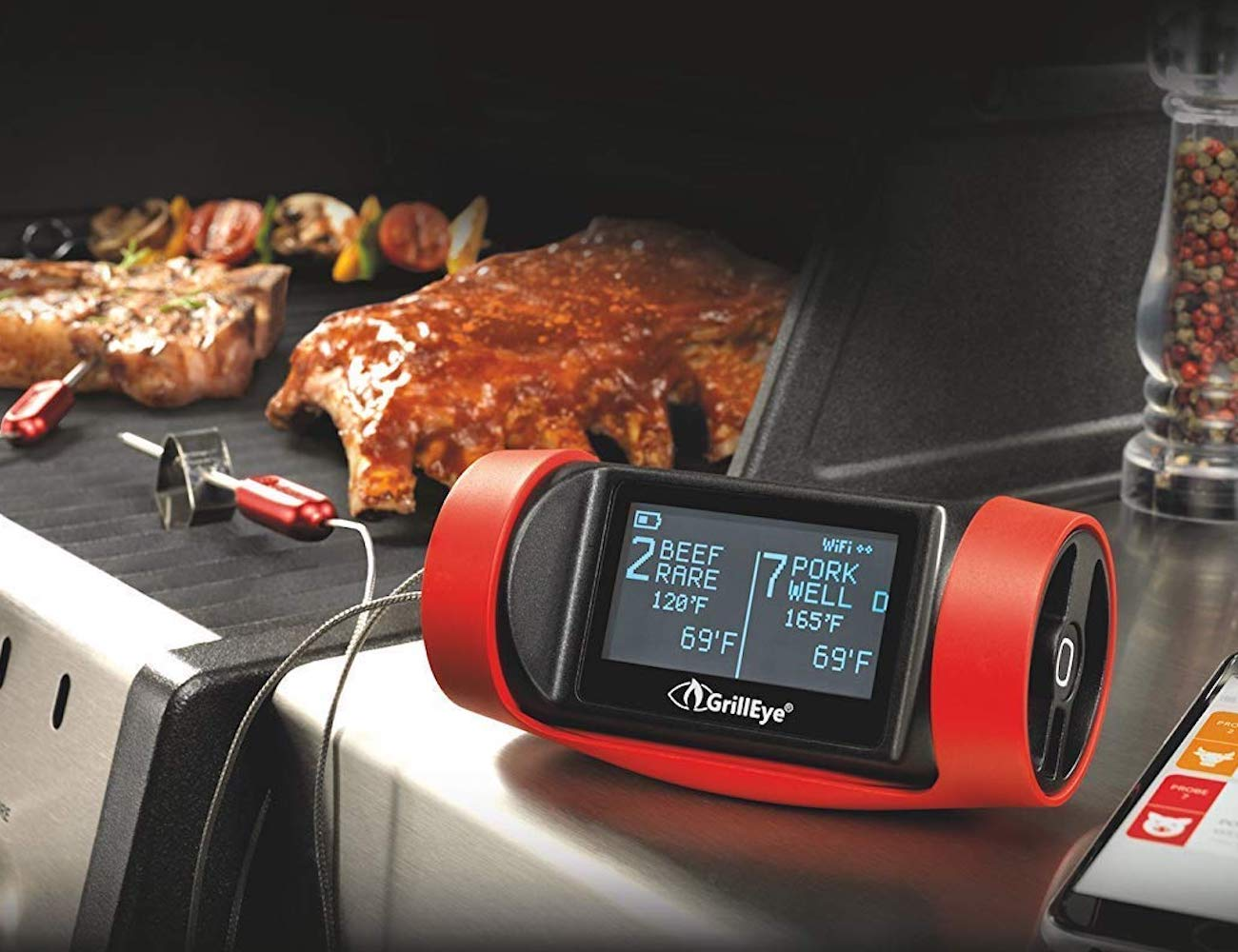 GrillEye PRO+ Grilling and Smoking Thermometer