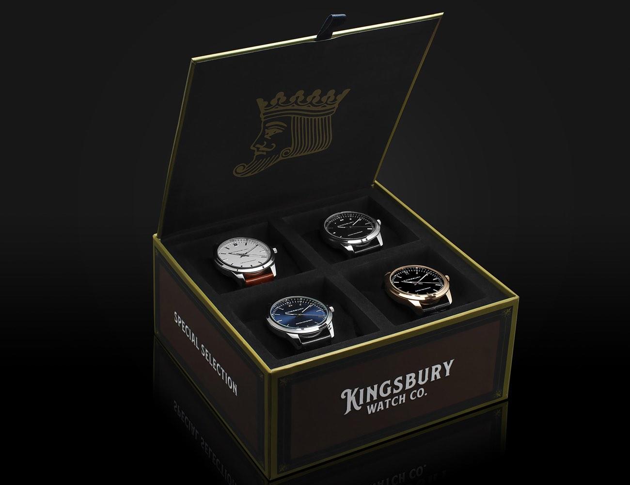 Kingsbury Cigar Box Watch Set
