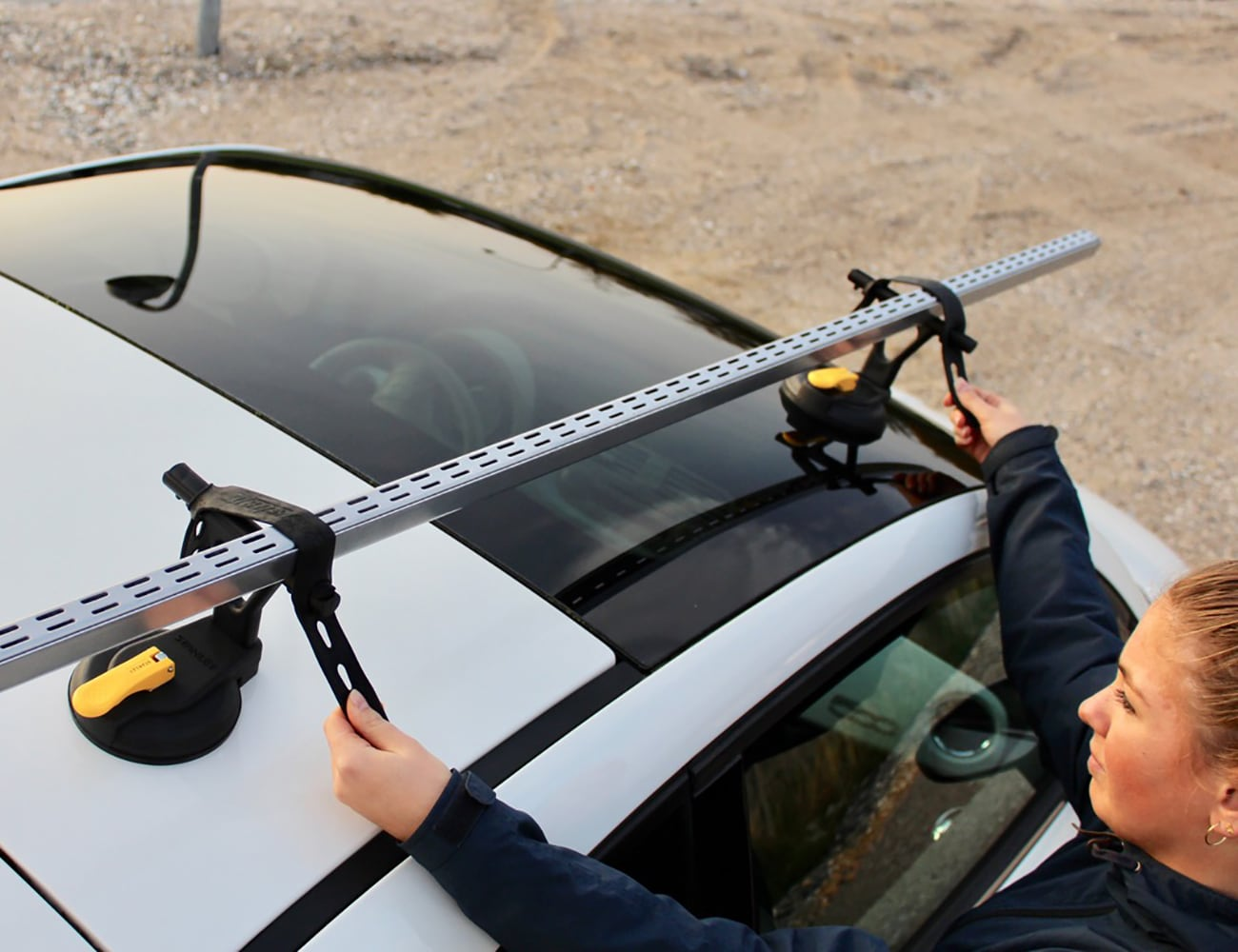 stanley suction cup roof rack system