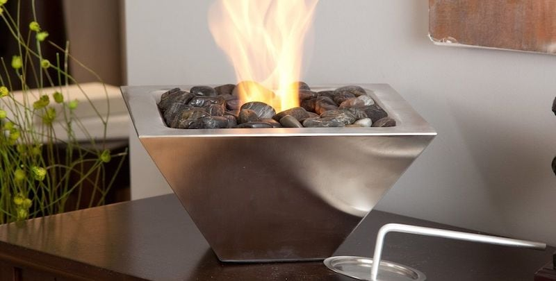 Indoor / Outdoor Tabletop Fireplace - Truly unique furniture to give your home a modern makeover