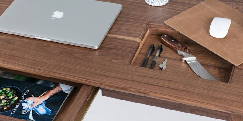 Wolf Lockable Wood Desk - Truly unique furniture to give your home a modern makeover
