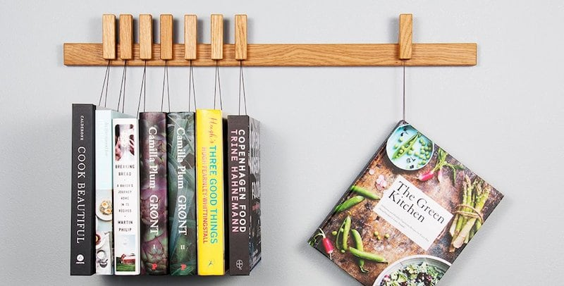 Wooden Book Rack in Oak - Truly unique furniture to give your home a modern makeover