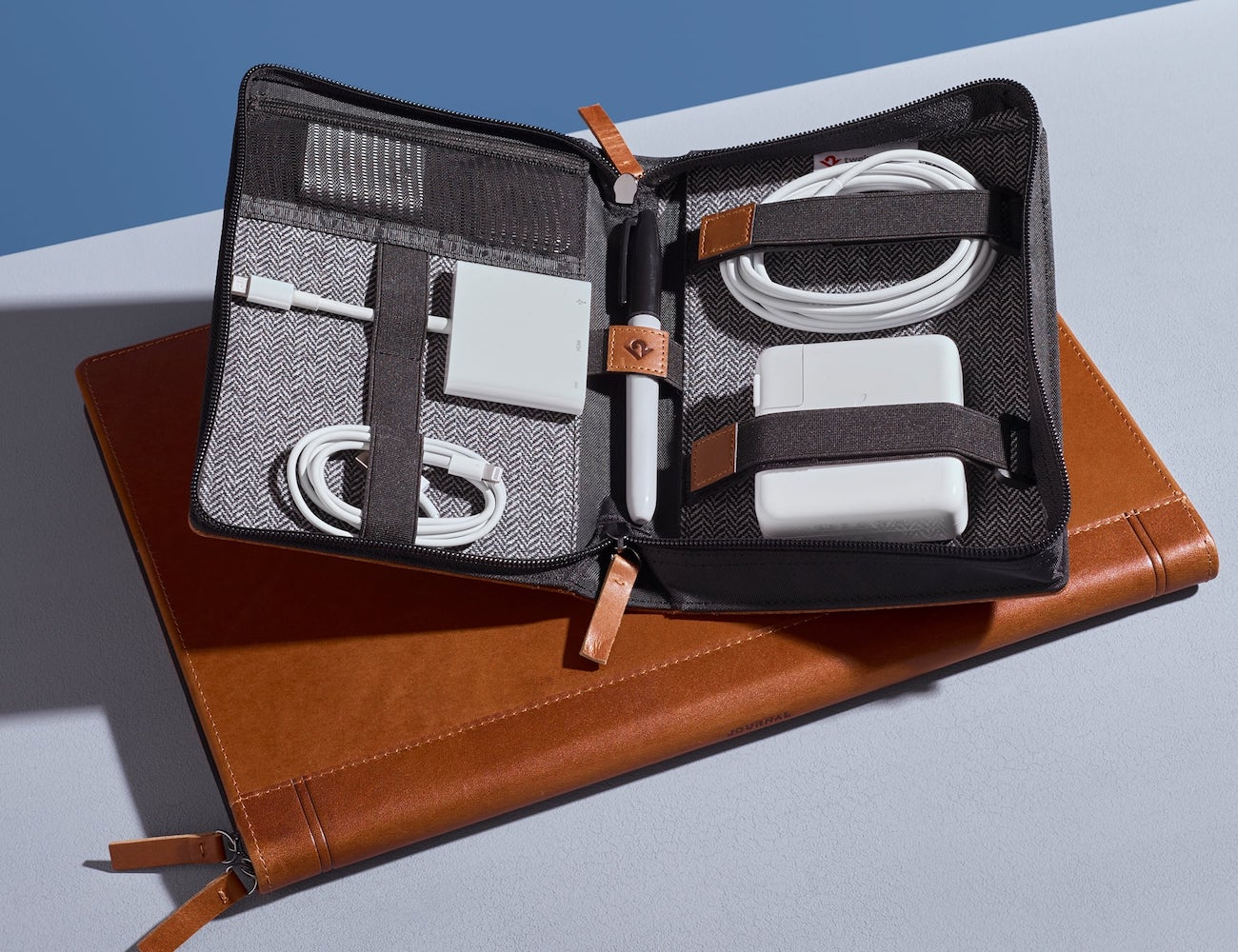 Twelve South Journal CaddySack Luxury Leather Travel Tote offers plenty of space
