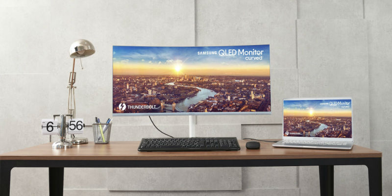 Samsung Thunderbolt 3 QLED Curved Monitor - The best monitors and displays for web designers, photographers, and other creatives
